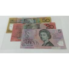 Banknote Sleeves Pack of 50. 120mm x 190mm