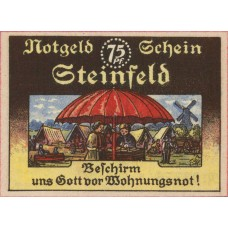 Steinfeld Gemeinde, 1x75pf, 1x1mk, Set of 2 Notes, 1262.5a