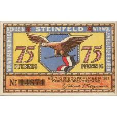 Steinfeld Gemeinde, 1x75pf, 1x1mk, Set of 2 Notes, 1262.6a