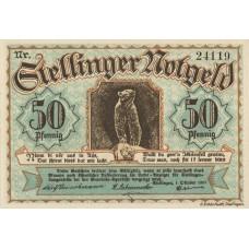 Stellingen Gemeinde, 1x50pf, 1x75pf, 1x1mk, 1x2mk, Set of 4 Notes, 1265.1