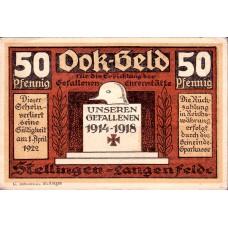 Stellingen Gemeinde, 1x50pf, 1x1mk, Set of 2 Notes, 1265.2