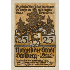 Stolberg a.Harz Stadt, 1x25pf, 1x50pf, Set of 2 Notes, 1273.1d