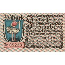 Strausberg Stadt, 4x.5mk, 1x1mk, 1x2mk, Set of 6 Notes, 1281.1
