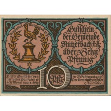Stützerbach Preußischer Anteil Gemeinde, 1x10pf, 1x20pf, 2x25pf, 2x50pf, Set of 6 Notes, 1286.1a