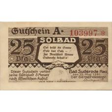 Suderode im Harz Gemeinde, 4x25pf, 6x50pf, Set of 10 Notes, 1292.1a