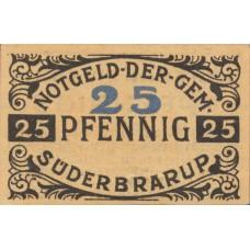 Süderbrarup Gemeinde, 1x25pf, 1x2mk, Set of 2 Notes, 1294.1a