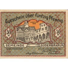Süderbrarup Gemeinde, 8x50pf, Set of 8 Notes, 1294.7c