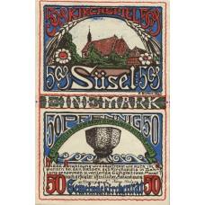 Süsel Kirchspiel, 100pf, Set of 1 Note, 1301.1b