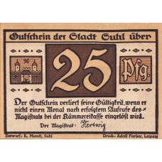Suhl Stadt, 4x50pf, Set of 4 Notes, 1303.1
