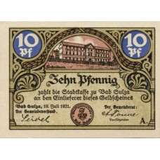 Sulza Bad Stadt, 1x10pf, 1x25pf, 2x50pf, 2x75pf, Set of 6 Notes, 1304.1a