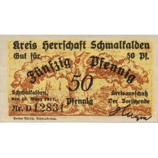 Schmalkalden Kreis Herrschaft Schmalkalden, 50 Pfennig, S38.3b