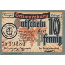Schwarzburg Stadt, 1x10pf, 1x50pf, Set of 2 Notes, 1208.1 / S57.1