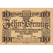Sommerfeld Stadt, 1x10pf, Set of 1 Note, S85.6