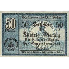 Sulza Bad Stadt, 50 Pfennig, S129.2c