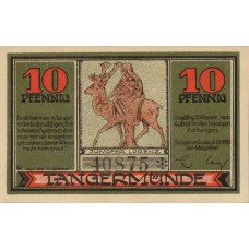 Tangermünde Stadt, 1x10pf, 1x25pf, 1x50pf, Set of 3 Notes, 1308.1
