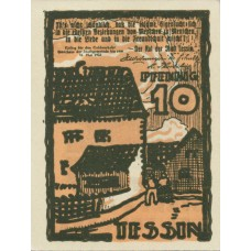 Tessin Stadt, 1x10pf, 1x25pf, 1x50pf, Set of 3 Notes, 1315.1