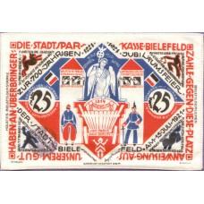 Bielefeld Stadt, 25 Mark, Linen, 017c