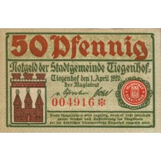 Tiegenhof Stadt, 50 Pfennig, T10.2c