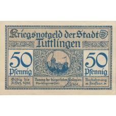 Tuttlingen Stadt, 50 Pfennig, T30.1b Error