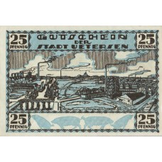 Uetersen Stadt, 1x25pf, 1x50pf, Set of 2 Notes, 1352.2