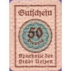 Uelzen Stadt, 1x50pf, Set of 1 Note, U3.3
