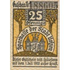 Uelzen Stadt, 1x25pf, 1x50pf, Set of 2 Notes, U3.7