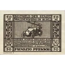 Waldenburg Stadt, 1x50pf, Set of 1 Note, 1371.2
