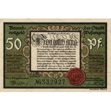 Wasungen Stadt, 4x50pf, 2x75pf, Set of 6 Notes, 1384.1