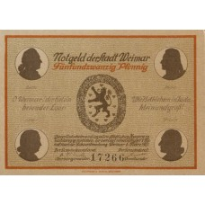 Weimar Stadt, 6x25pf, Set of 6 Notes, 1398.1a