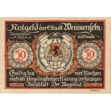 Weissenfels Stadt, 6x50pf, Set of 6 Notes, 1403.2