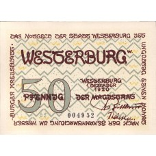 Westerburg Stadt, 3x50pf, Set of 3 Notes, 1412.3