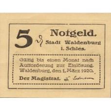 Waldenburg Stadt, 2x5pf, Set of 2 Notes, W3.18
