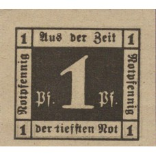 Waldenburg Stadt, 1x1pf, 1x2pf, Set of 2 Notes, W3.19