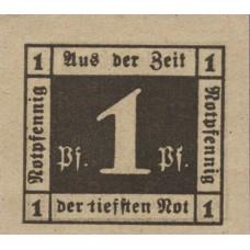 Waldenburg Stadt, 1x1pf, 1x2pf, Set of 2 Notes, W3.19