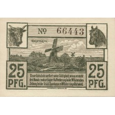 Wilster Städtische Sparkasse, 1x25pf, 1x50pf, Set of 2 Notes, W46.5b