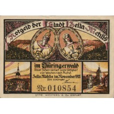 Zella-Mehlis Stadt, 1x10pf, 1x25pf, 3x50pf, Set of 5 Notes, 1468.1
