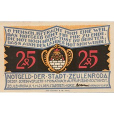 Zeulenroda Stadt, 5x25pf, Set of 5 Notes, 1470.1