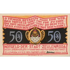 Zeulenroda Stadt, 5x50pf, 5x75pf, Set of 10 Notes, 1470.2