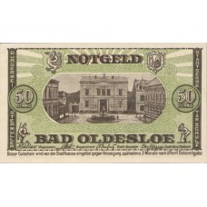 Oldesloe, Bad Stadt, 1x50pf, Set of 1 Note, O20.1