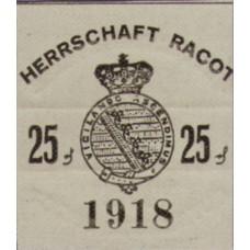 Racot, Gutskasse, 25 Pfennig