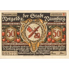 Naumburg a.S. Stadt, 12x50pf, Set of 12 Notes, 928.4a