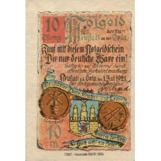 Neustadt a.d Orla Stadt, 1x10pf, 1x25pf, 1x50pf, 1x75pf, Set of 4 Notes, 965.1