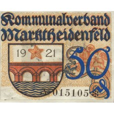 Marktheidenfeld Kommunalverband, 1x50pf, Set of 1 Note, M15.4