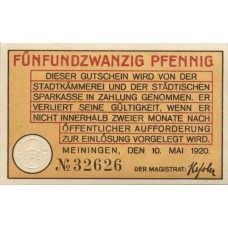 Meiningen Stadt, 1x25pf, Set of 1 Note, M24.3