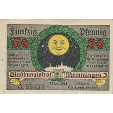 Memmingen Stadt, 50 Pfennig, M31.3