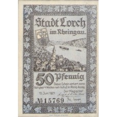 Lorch Stadt, 2x50pf, Set of 2 Notes, 815.3b