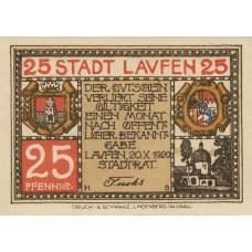 Laufen Stadt, 1x25pf, 1x50pf, Set of 2 Notes, L20.1