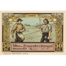 Alten-und Frauenbreitungen Gemeinde, 6x50pf, Set of 6 Notes, 18.1