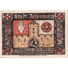 Altenburg Stadt, 8x50pf, Set of 8 Notes, 21.1a