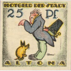 Altona Stadt, 2x25pf, 2x50pf, 2x75pf, Set of 6 Notes, 30.2